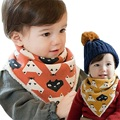 Thick Cartoon Baby Infant Bibs Boys Girls Bib Scarf Plush Cotton Winter Warm Scarf for Baby Burp Cloths Saliva Towels