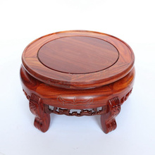 Red wingceltis silver-inlaid forth a few solid wood carving handicraft circular base stone vases, furnishing articles