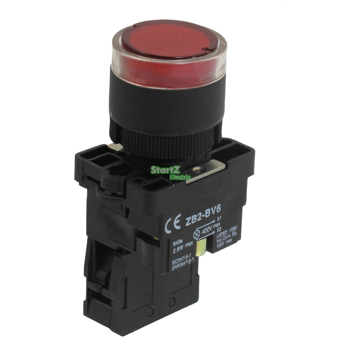 5Pcs 22mm NC Red Illuminated Light Momentary Push Button Switch AC 220V ZB2-EW3462 встраиваемый светильник novotech pearl 370138