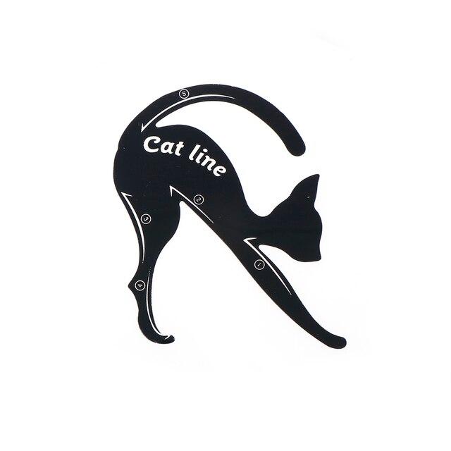 2pcs/set Cat Line Stencils Eye Makeup Eyeliner Eyeshadow Plastic Template Kit Eyebrow Model Fuctional Design Cosmetic Tool 5