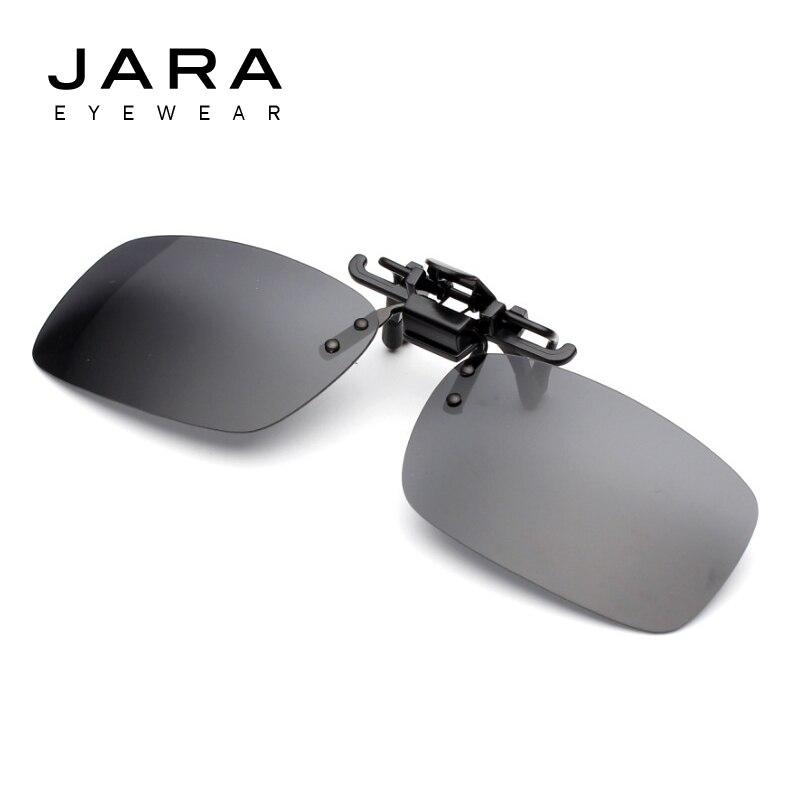 JARA Men Polarized Driver Flip Vertical Clip Sunglas