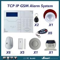 フォーカスST-VGT gsm tcp ip alarmeシステムで煙検出器ワイヤレスホームセキュリティアーム武装解除警報システムappリモコン
