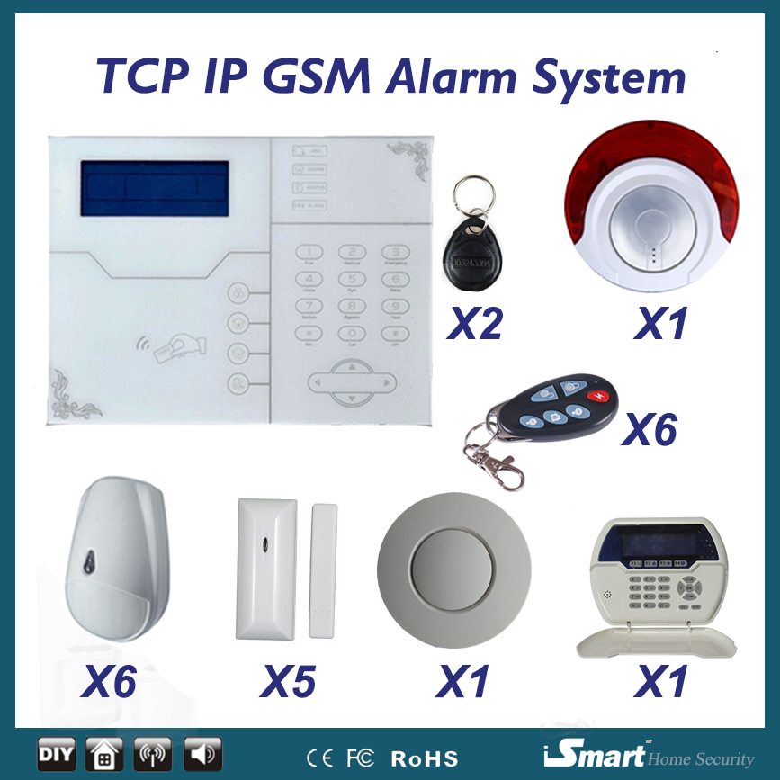 Focus ST-VGT GSM TCP IP Alarme Systems with Smoke Detector  Wireless Home Security Arm Disarm Alarm System APP Remote Control kerui wireless remote control arm disarm detector f touch keypad panel gsm pstn home security burglar voice alarm system