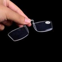 7e052986d نظارات القراءة القديمة مرآة الأنف كليب 1 قطعة + 1 + 1.5 + 2 + 2.5 + 3 لا الإطار  كليب على الأنف مصغرة صغيرة النظارات