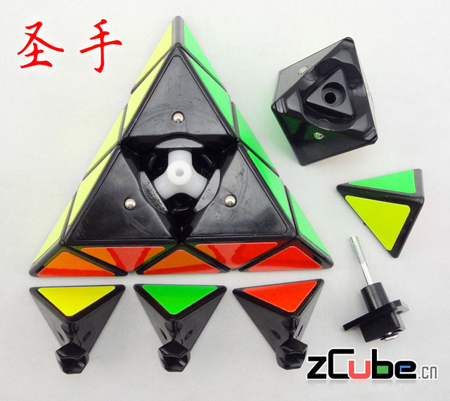 Triangle magic cube qj gong wire pyramid