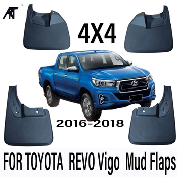 Car Mud Flaps For Toyota HILUX REVO Vigo 2016-2018  4x4  Mudflaps Splash Guards Mud Flap Mudguards Fender Car Styling Set Molded