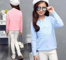New 2017 Autumn Fashion Lace collar Knitted Cardigan Sweater Dot Casual knit pattern Hem Design For Girl  Beautiful Clothes S127