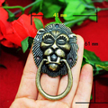 10PCS vintage lion Ring Pulls dresser drawer pulls handles / Rustic Cabinet Knob Pull Handles 41mm*61mm