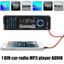 1 din 12 V Coche Reproductor de Radio Estéreo Bluetooth FM MP3 USB SD AUX Audio Auto Electrónica de control remoto caliente venta