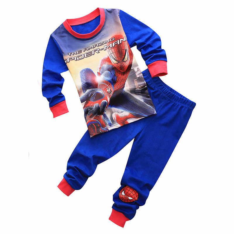 Neue Jungen Kleidung Set Spiderman Baumwolle Kinder Kleidung Langarm Kleinkind Pyjamas Nachtwäsche Kinder Mädchen Homem Aranha Vetement Garcon