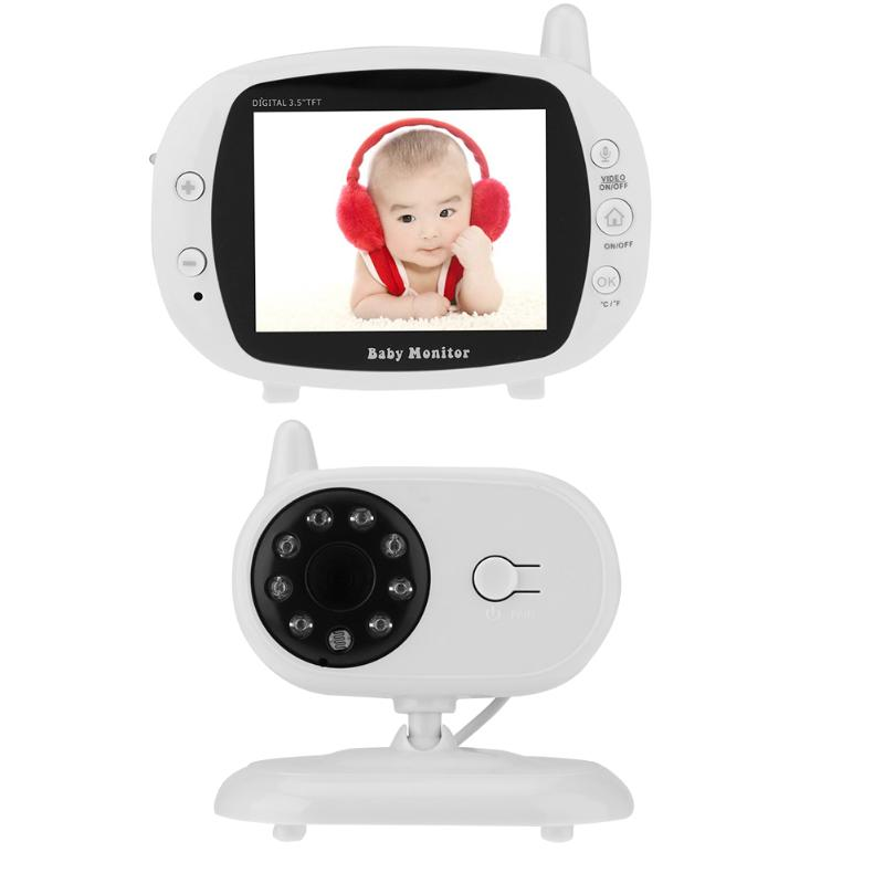 3.5 inch HD LCD Wireless Video Color Baby Monitor High Resolution Baby Nanny Security Camera Night Vision Temperature Monitoring 7 inch video doorbell tft lcd hd screen wired video doorphone for villa one monitor with one metal outdoor unit night vision