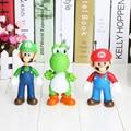 Frete Grátis Super Mario Bros Mario Luigi Yoshi Ação PVC Figura Coleção Modelo Brinquedos modelo