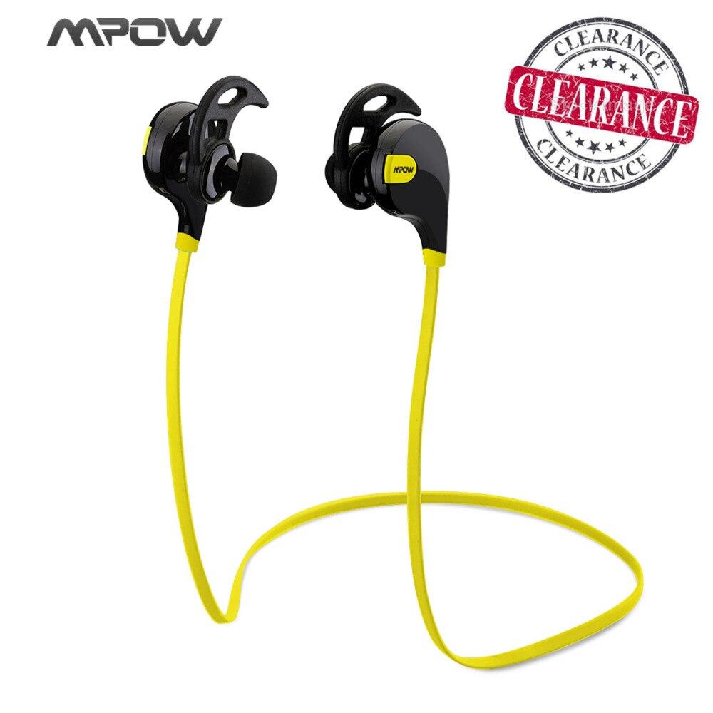 Mpow Swift MBH5 Mains Libres Bluetooth 4.0 Écouteur Sans Fil Stéréo Sport Casque Mic Écouteurs AptX pour iPhone 6 Samsung Xiaomi