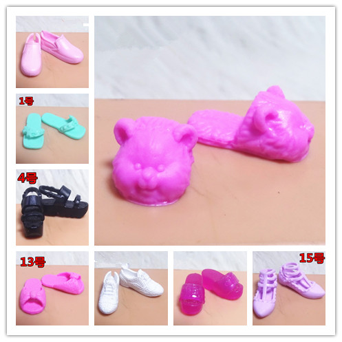 2019 Original High Quality 1 Pair 1/6 Doll Shoes Doll Flat Single Shoes, Flat Feet, Sneakers, Slipper For Barbie Doll Shoes 1/6