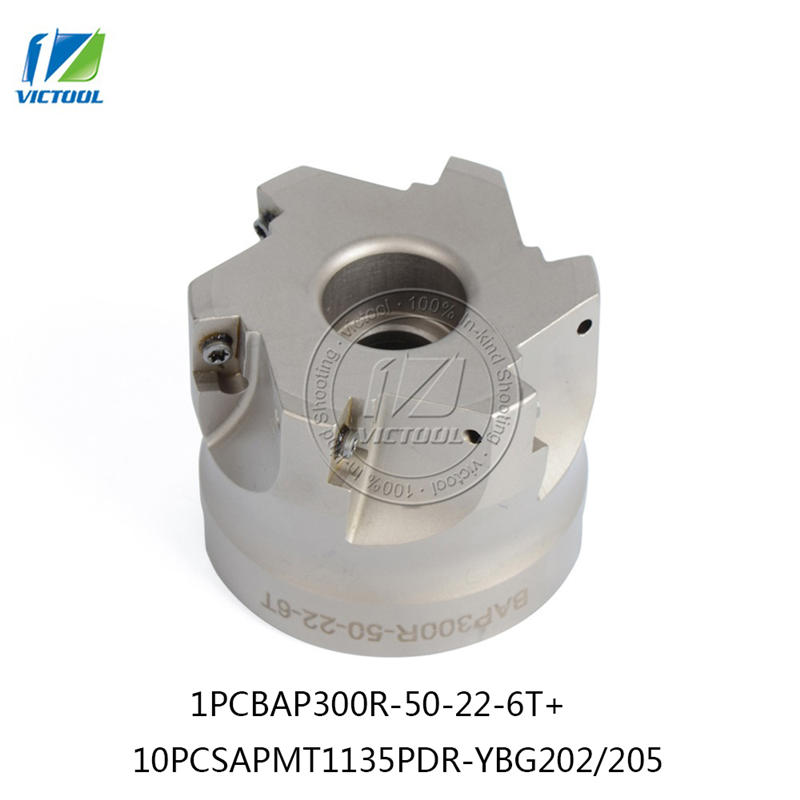 BAP300R*50*22*6T 90 Degree Right Angle Shoulder Face Mill Head CNC Milling Cutter,milling cutter tools,carbide Insert APMT1135 precision m16 bt40 400r 63 22 face endmill and 10pcs apmt1604 carbide insert new