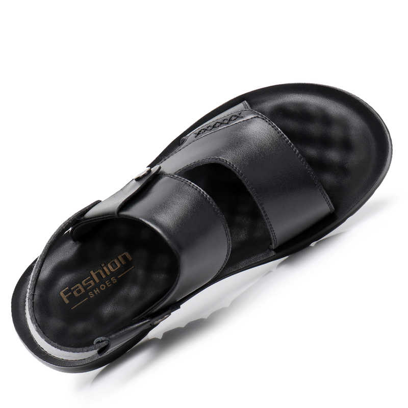 DXKZMCM ของแท้หนังผู้ชายรองเท้าฤดูร้อนใหม่ผู้ชายรองเท้าแตะชายรองเท้าแตะแฟชั่นรองเท้าแตะชายหาด