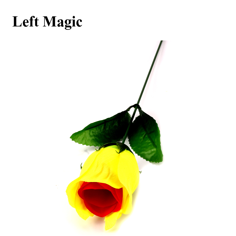 Discoloration Roses (Red Change Yellow) Rose Magic Tricks Change Valentine 'S Day Color Roses Flower Magic Trick Fun Toys G8022