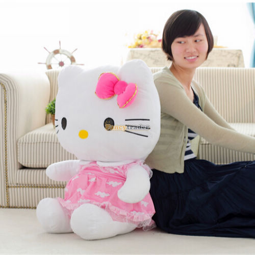Fancytrader 27\'\' 70cm Giant Plush Stuffed Hello Kitty, 3 Colors Available! Free Shipping FT90157 (2).jpg