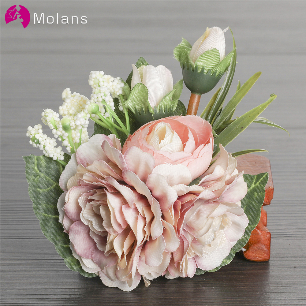 MOLANS Natural Berries Flower Hairpins Exquisite Wedding Headpieces For Bride Bogus Floral Leaves Hair Clips Female Hairpin