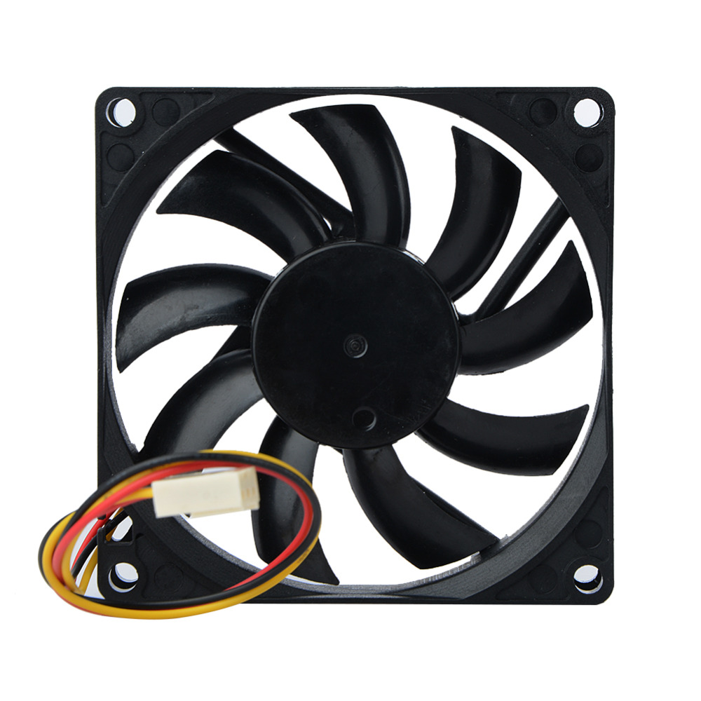 2PCS12V 80 x 80 x 10mm Brushless Silent Cooling Fan Fit For Computer PC Case