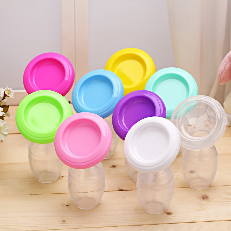 Hot Baby Feeding Manual Breast Pump Partner Breast Collector Automatic Correction Breastmilk Silicone Breast Pump