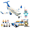 Conjuntos de kits modelo de construção do aeroporto avião airbus modelo de série mini figuras de ação presentes blocos de aprendizagem brinquedos de montagem diy