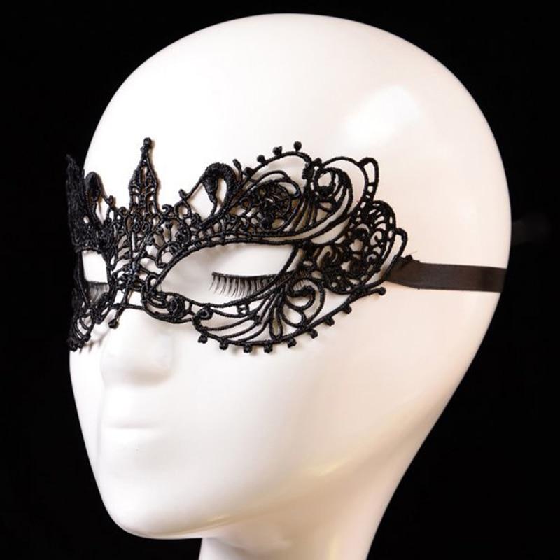 Masque Halloween Maska Seksual Qara Krujeva Maska Maskarad Partiyası - Şənlik aksesuarları - Fotoqrafiya 4