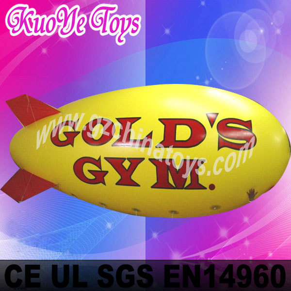 4M Long advertising inflatable blimp+free shipping