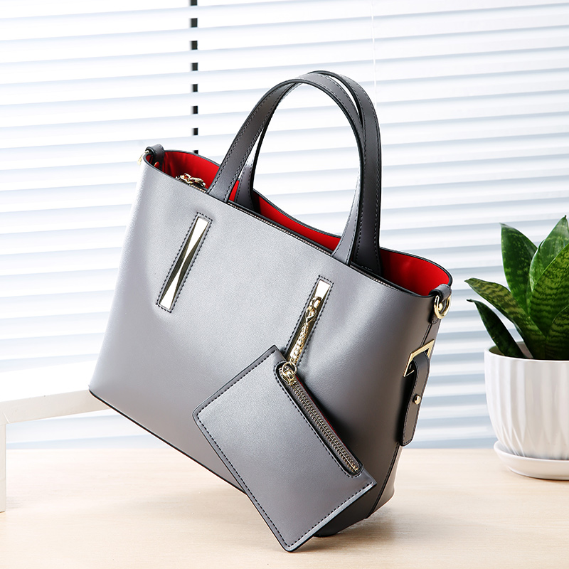 LUODUN2018 new big bag leather handbags leather wild fashion Europe and the United States large capacity laptop shoulder bag 2017 new leather handbags tide europe and the united states fashion bags large capacity leather tote bag handbag shoulder bag
