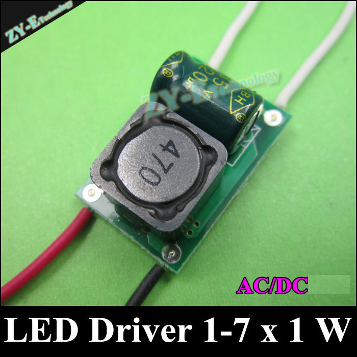 10pc/lot Led Driver 1-7x1w Ac/dc24v 300ma Power Supply Led Transformer 1w,3w,5w,7w Lamp Adapter Led Driver 24v For Free Shipping With The Best Service Lighting Transformers