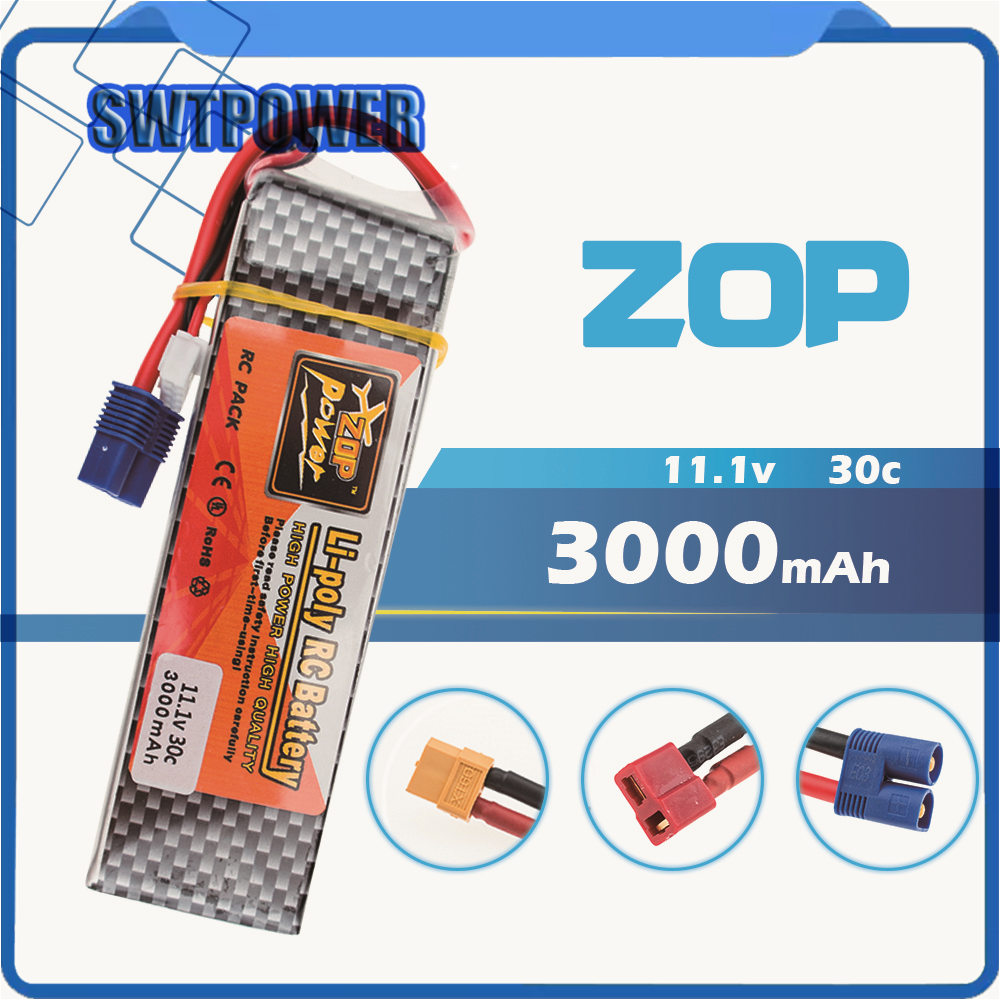 Lipo Battery 11.1v 3000mah 3S 30C EC3 XT60 Plug Zop Power Polymer Lithium for Blade 350QX/450 RC Helicoper Drone Bateria кошельки бумажники и портмоне petek s15012 pnf 33
