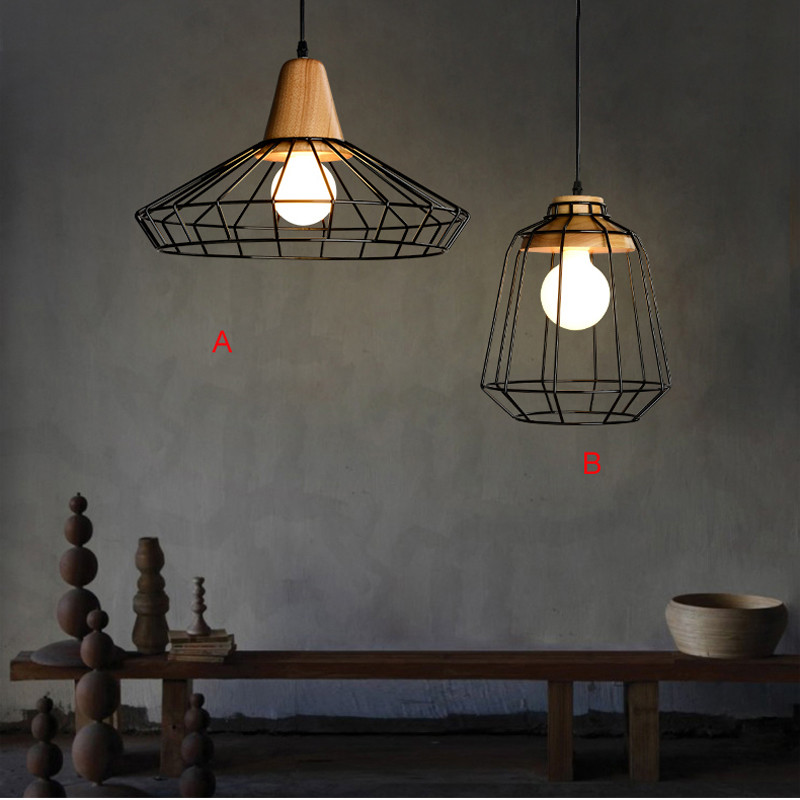 Nordic creative personality Iron pendant lamp loft bar coffee shop restaurant lighting retro network aisle kitchen study lamp цена и фото