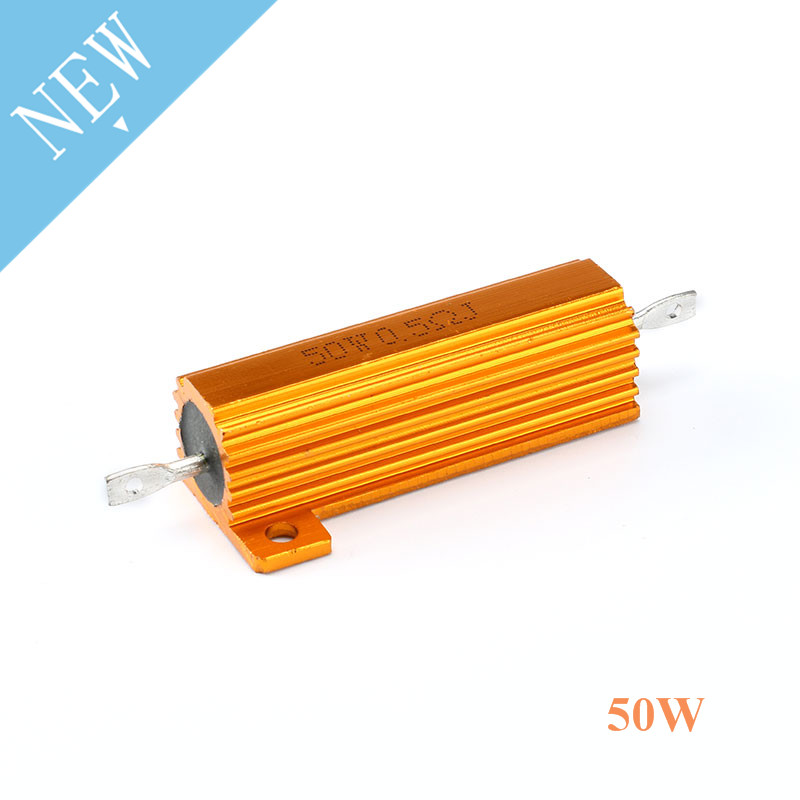 RX24 50W Metal Shell Aluminium Gold Resistor 1K 500R 300R 200R 150R 100R 50R 30R 20R 15R 10R 8R 6R 4R 2.5R 1.5R 1R 0.5R 0.1R