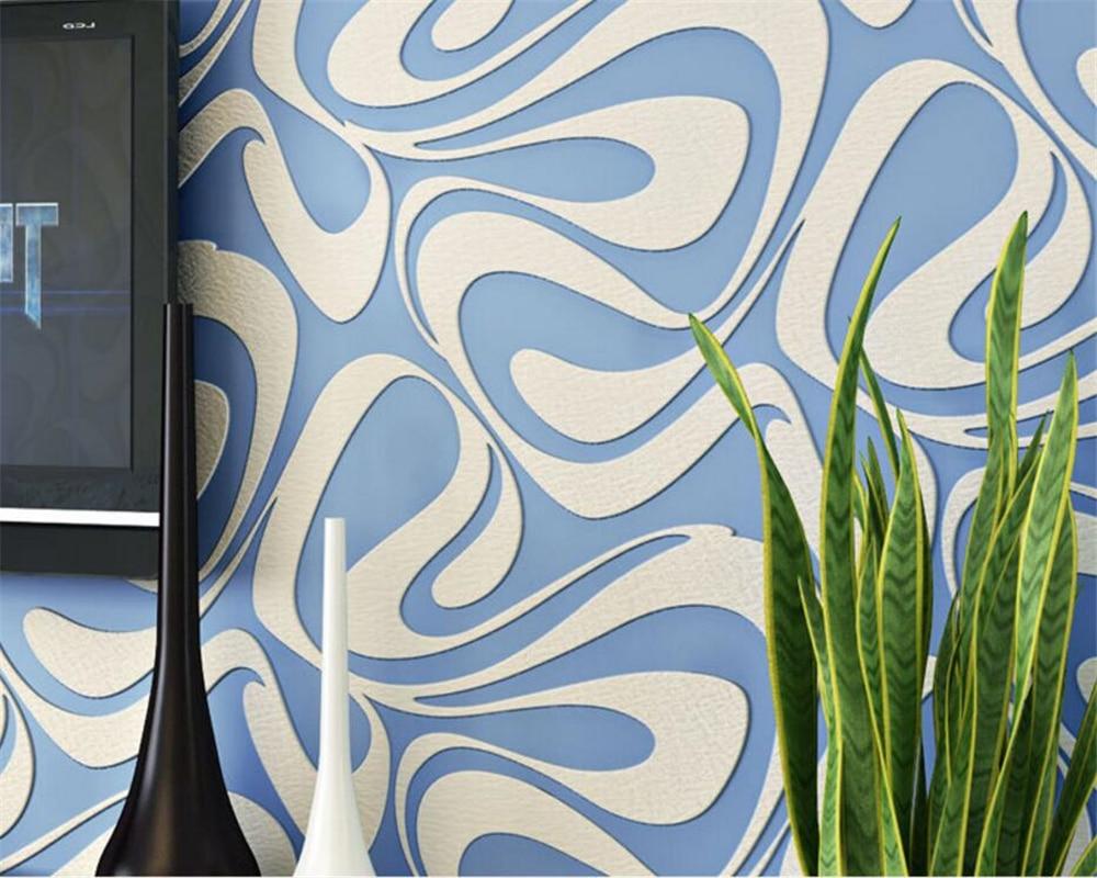 Beibehang abstrait haute qualité géométrique rayé papier peint Relief papier peint salon chambre chevet fond 3d papier peint