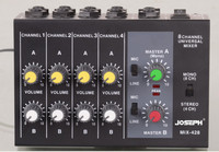 Top Quality Professional Switchable Stereo 4 Channel Mono 8 Channels JOSEPH MIX428 Microphone Audio Mixer Console