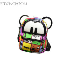 STANCHION New Fashion Women Backpack Mini Cute Ears Priting Teenage Girl Daily