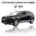 1:14 modelos de carros de controle remoto, carro elétrico esportivo q7 suv, diecasts plástico, toy vehicles, educação toys presentes, frete grátis