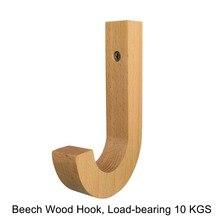 Деревянный крючок, J Hook, нагрузка 10 кг, современные деревянные вешалки для пальто, настенный подвесной крючок, подвесные украшения для гостиной/кухни...