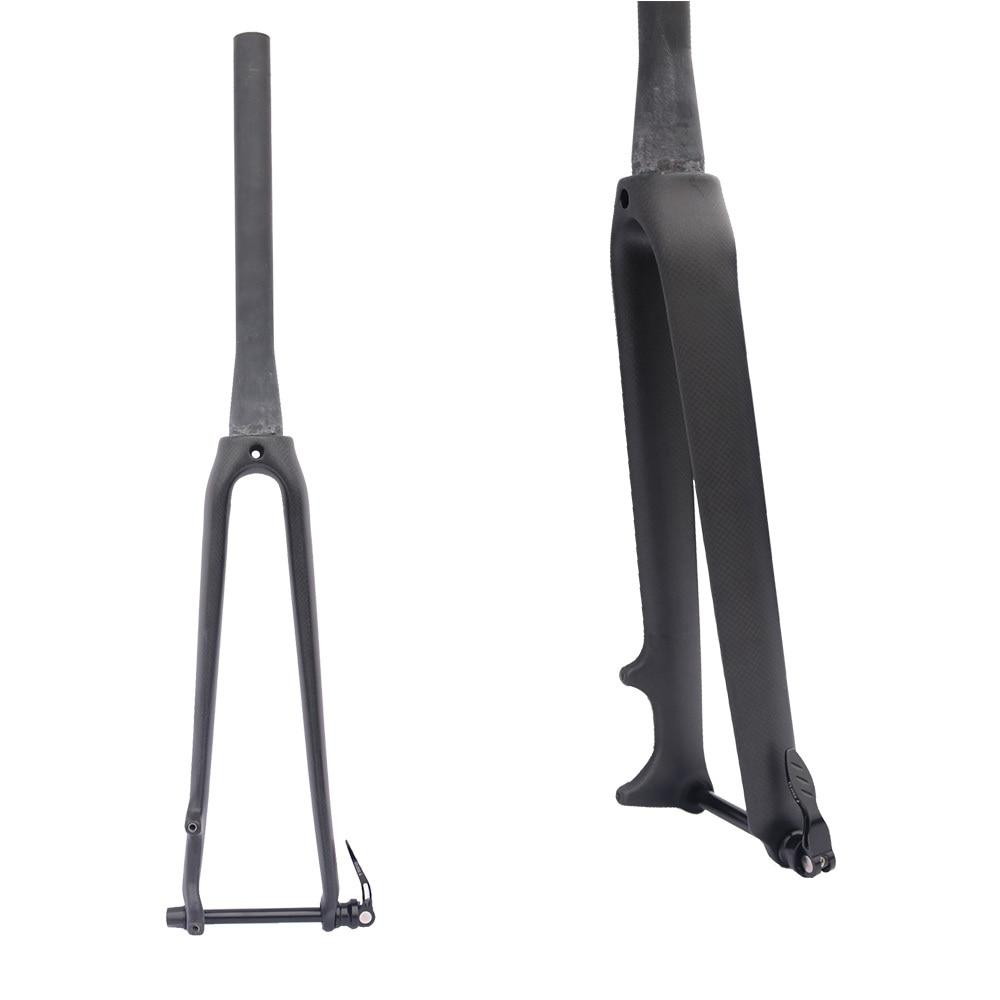 road carbon fork 700C bike front fork Thru Axle 12mm Tapered 1 1/8and 1/2 disc brake fork цена
