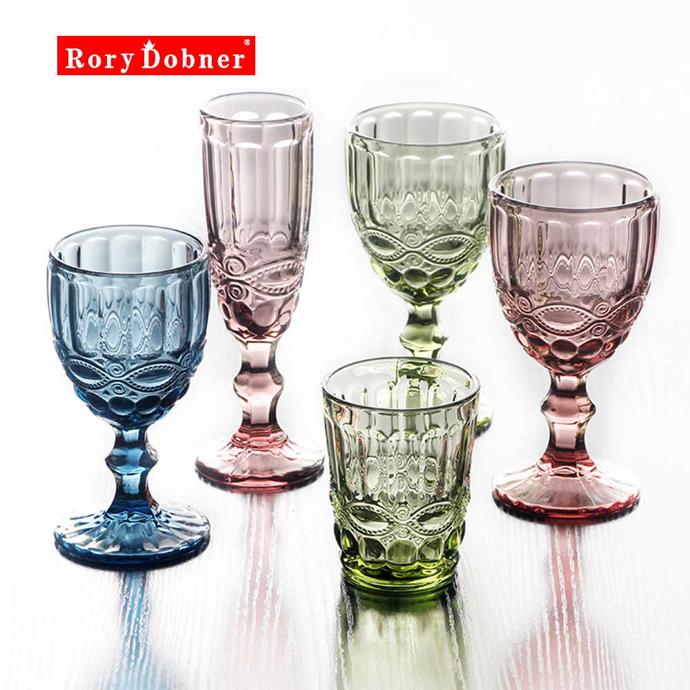 Champagne Cup Cocktail Glass Whiskey Cups Crystal Sculpture Juice Glass Goblet Wine Glass Crystal Engraved Color Cups  G832 gis chino para chinches