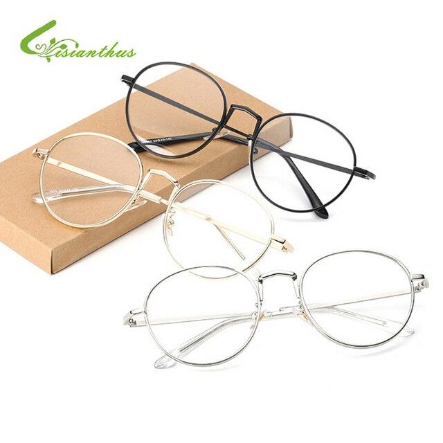 b489975a8a Fashion Vintage Women Eye Glasses Frames Plain Mirror Literary Harajuku Big  Metal Round Frame Glasses Feminino