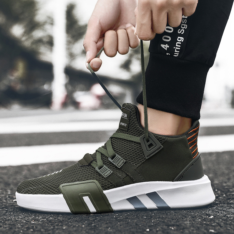 2020 New Summer Couple Shoes Fashion Trend Sneakers Breathable Upper Comfortable Lining Wear-resistant Non-slip Sole Men Shoes
