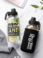 A straw glass adult girl cute portable student net red water cup ins with a large capacity creative cup