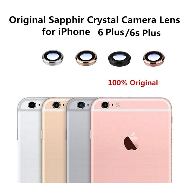 newest a7010 2e287 US $2.98 35% OFF for iPhone 6 Plus Original Back Rear Camera Lens Sapphire  Crystal Glass With Metal Frame Replacement Part for iPhone 6s Plus-in ...