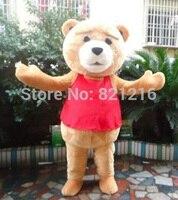 Мишка TED взрослых Размеры Хэллоуин Мультфильм Маскоты костюм нарядное платье EVA