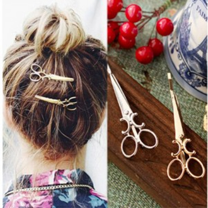 1PCS Korean version of the simple hair ornaments personalized hair clips ornaments retro word folder headdress