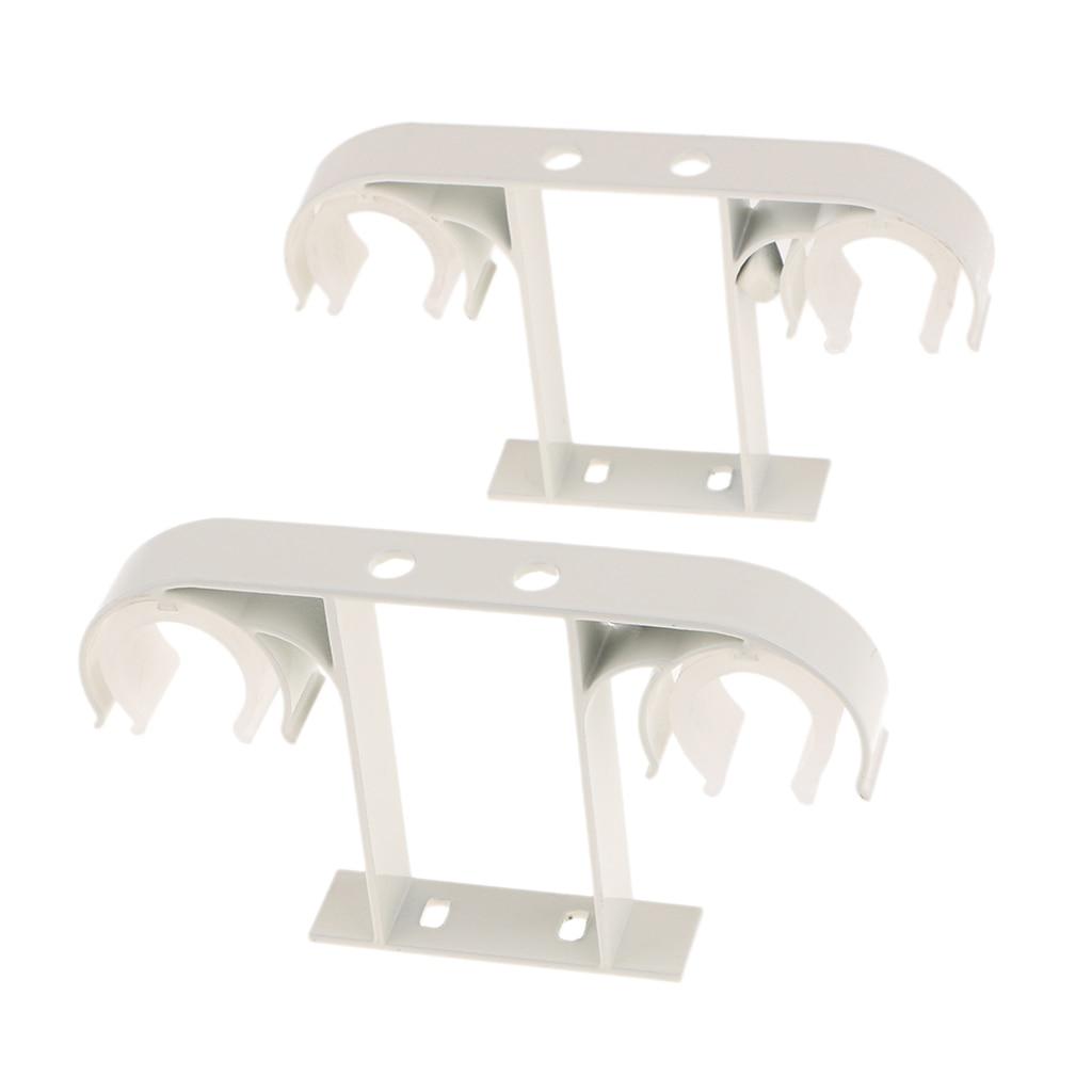 2Pcs Aluminum Alloy Double Window Curtain Rod Bracket Holder Ceiling Mounted for Diameter 2.8cm toilet seat