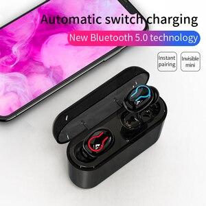 Image 2 - HBQ Bluetooth 5.0 słuchawki przenośne TWS bezprzewodowe douszne dźwięk radia 3D z mikrofonem zestaw głośnomówiący słuchawki sportowe Auto parowanie zestaw słuchawkowy