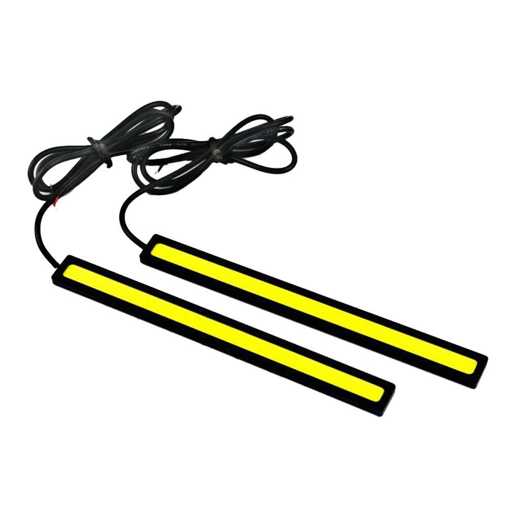 2Pcs Ultrathin LED COB Car Styling DRL Auto Daytime Running Light Strip Waterproof 12V Automobile Parking Fog Bar Lamp Indicator