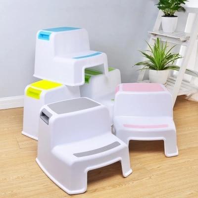 Plastic Children's Stools Kindergarten Baby Washbasin Footstools Non-slip Ascending Ladders Step Stools